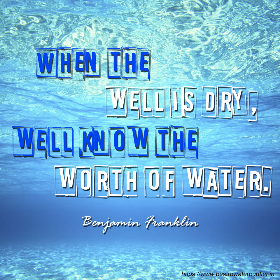 worth of water quote