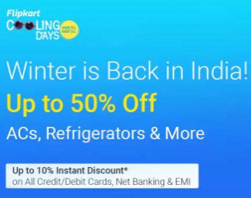 fcbba01d6 Flipkart Cooling Days – Extra 10% on ACs